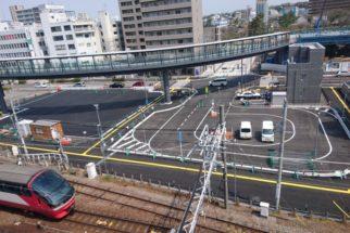名鉄東岡崎駅前 道路改良工事