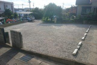月極駐車場(砂利) 整備工事