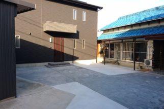 H様邸 外構(擁壁・階段・土間コンクリート)工事